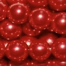 200 pieces 6mm Glass Pearl Beads - Bright Red - A0977-A