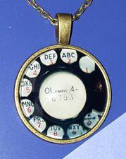 ROTARY PHONE NECKLACE TELEPHONE RETRO PENDANT BIRTHDAY GIFT 18 INCH CHAIN NEW