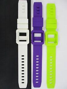White+Purple+Green Silicone Watch Band Wrist Strap Skin Cover Apple iPod Nano 6