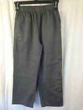 BNWT Boys Sz 10 LW Reid Brand Dark Grey Double Knee Elastic Waist School Pants