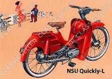 NSU Quickly-L Quickly L Moped Poster Plakat Bild Kunstdruck Schild Affiche Deko