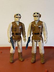 Vintage Star Wars HOTH REBEL SOLDIERS Lot Of 2 ORIGINAL COMPLETE 1980 NICE!!