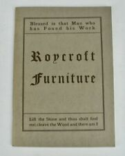 Catalog of Roycroft Furniture and Other Things (1981 Reprint from 1906 Original)