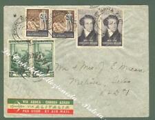 REPUBBLICA ITALIANA. Storia Postale. Aeregramma del 21.9.1952 da Roma ...