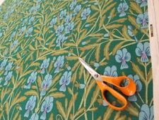 Vintage Sanderson Shewsbury Linen Floral Curtain Fabric 1 mts blue green 60's