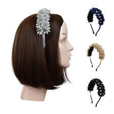 Hard Headband Tinsel w/Beads Stunning Head Band Pretty Girls Hair Band w/Teeth