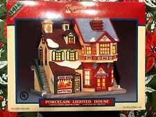 Lemax Village Collection Plymouth Corners Porcelain Lighted House Baked Goods