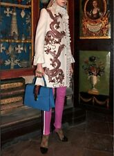Gucci White Ecru Wool Coat With Dragons And GG Pearls RP£2420 IT40 Sylvie