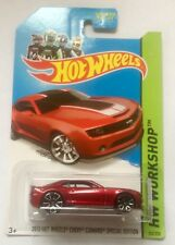 Hot Wheels Red 2013 chevy camaro special edition Longue Carte: 202/250 NEUF