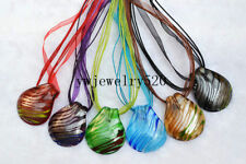 Wholesale Lots 6Pcs Line Drop Murano Glass Pendant 3+1 Necklace FREE