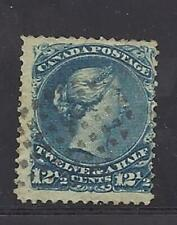 Canada Scott 28 12 1/2C Blue F used. Cats $60. LOOK!