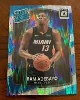 2017-18 Optic Rated Rookie SHOCK FLASH Bam Adebayo Miami Heat SP RC