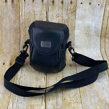 Case Logic Small Leather Camera Bag Crossbody Shoulder Strap Black