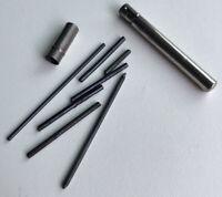 Vintage Eberhard Faber Metal Mechanical Pencil Lead Holder Tube Carrier Case