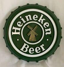 Vintage Heineken Beer Bottle Cap Sign