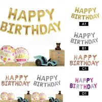 Self Inflating Happy Birthday Anniversary Banner Balloon Bunting Letter Foil Hot