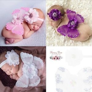 Newborn Butterfly Wings and Headband Set, Photo Prop