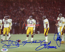 744289b9e Pittsburgh Steelers Steel Curtain Signed Autographed 8x10 Photo Reprint