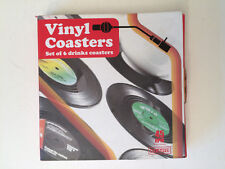 6pc Vintage Vinyl Record COASTERS Cup Pad Coffee Table Mats Bar NEW