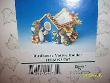 "Charming Tails ""Birdhouse Votive Holder"" Mouse Candle Holder Fitz And Floyd"