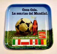 Collectible COCA-COLA tin coaster from Mundial 1982 Spain