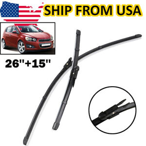 For Chevrolet Aveo Sonic MK2 2012-2020 US Front Windshield Wiper Blades Set 2Pcs