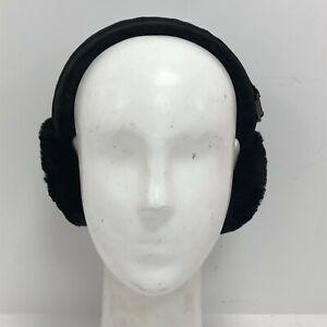 Ugg Australia Women's Shearling Ear Muffs One Size Black Sheepskin Winter 241203