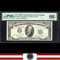 1950-E $10 CHICAGO FRN PMG 66 EPQ Federal Reserve Note  Fr 2015-g  G71811682H