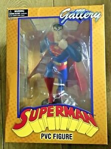 """Superman Animated Series 9"""" Statue. Dc Gallery Justice League By Diamond. Boxed"""