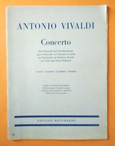 Spartito ANTONIO VIVALDI Concerto Violoncello Orchestra Archi A Minore Reinhardt