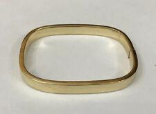 HM Hallmarked 9ct 9k Yellow Gold 7mm Square Shape Simple Plain Bangle Bracelet