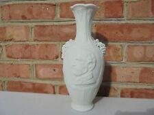 Antique Civil War Era Ulysses S Grant Bennington Parian Porcelain Portrait Vase