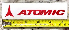 "Atomic Sticker 5"" DIE CUT Red Skis Snowboard Decal Boots Bindings Jacket XO"