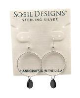 """SOSIE DESIGNS Sterling Silver with Freshwater Pearl Dangle Hook Earrings 1 1//4/"""""""