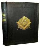 1902 FREEMASONRY MASONIC Antique HISTORY ILLUSTRATED KNIGHTS TEMPLAR OCCULT BOOK