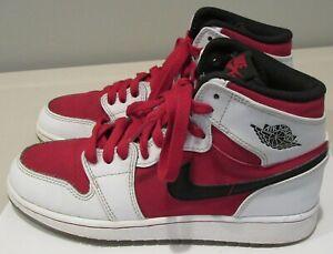 Youth Boys Size 4 Y Nike Air Jordan 1 Retro OG BG Carmine 4Y GS Sneakers Shoes
