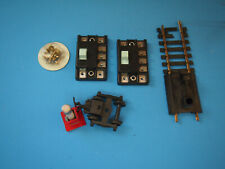 LOT OF HO MODEL TRAIN TRACK PARTS SWITCHES ECT