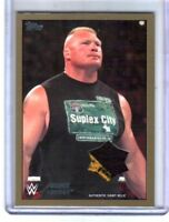 WWE Brock Lesnar 2016 Topps Heritage GOLD Event Used Shirt Relic Card SN 1 of 10