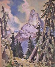 Gisbert PALMIE (1897-1986) Gemälde BELALAKAJA Kaukasus 1942