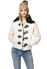NWT Juicy Couture Angel Twill Duffle Stud Toggle Faux Fur Puffer Jacket Coat XS