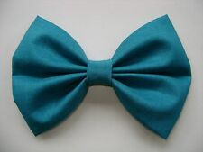 NEW FABRIC HAIR BOW W/ Alligator Clip * TEAL * Handmade USA * FREE SHIPPING ****
