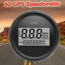 52mm 0-999 Knot MPH Kmh Gauge Digital Boat Car Truck GPS Speedometer Black Bezel