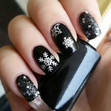 Christmas Snowflake Holographic Nail Art Foils Wraps Decals Transfer Stickers