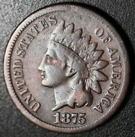 1875 INDIAN HEAD CENT With LIBERTY - FINE