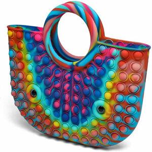 Push Bubble Sensory Bag Fidget Toy Simple Popit Purse Women Handbag Girls Gift