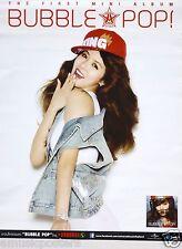 "HYUNA ""BUBBLE POP"" ASIAN PROMO POSTER -4 Minute, Wonder Girls, Girl K-Pop Music"