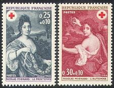 France 1968 Red Cross/Medical/Health/Welfare/Art/Spring/Autumn 2v set (n20400)
