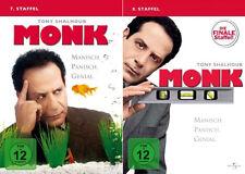 8 DVDs  * MONK - STAFFEL 7 + 8 IM SET  # NEU OVP+