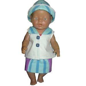 PK08 Puppenkleidung für Baby Puppen 43cm