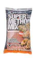 1kg OF BAIT TECH SUPER METHOD MIX RED COLOUR FOR CARP / COARSE FISHING